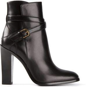 Saint Laurent Shoes - Saint Laurent hunting 105 black leather boots 36.5